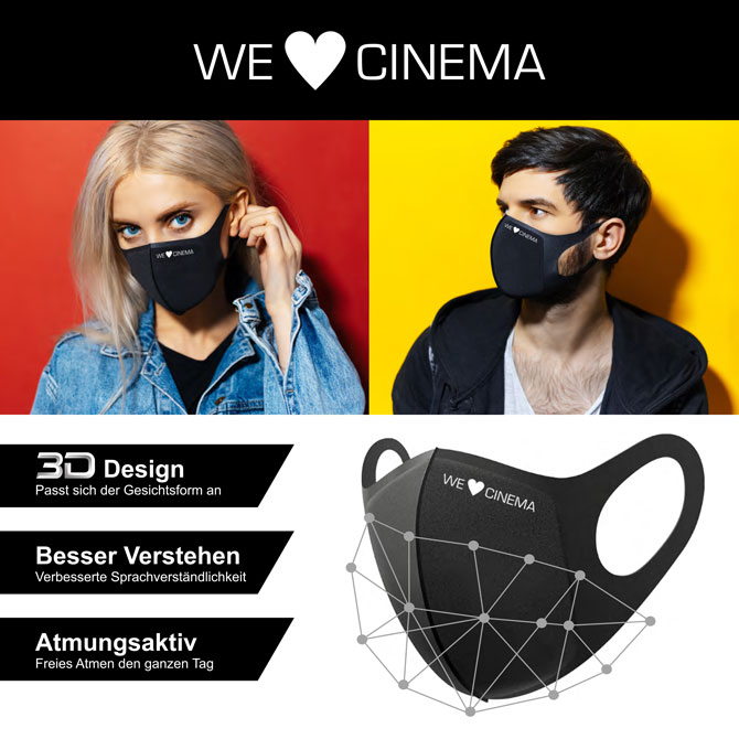 We Love Cinema Maske Flyer